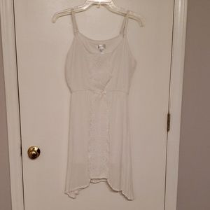 White Sundress with Lace Design